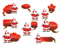 Clouds Santa Labels Set Royalty Free Stock Photography