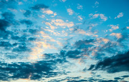 Clouds scape. Bright blue Stock Images