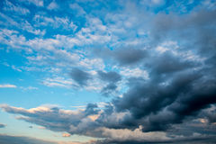 Clouds scape. Bright blue Stock Photography
