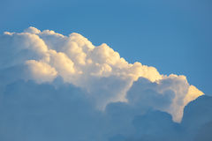 Clouds, scene with space for text. Royalty Free Stock Photos