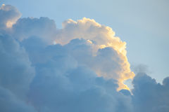 Clouds, scene with space for text. Royalty Free Stock Images