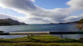 Clouds of Scotland. Road trip mallaig Scotland Stock Photo
