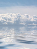 Clouds in the sea Royalty Free Stock Image
