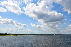 Clouds and sea Royalty Free Stock Images