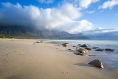 Clouds, Sea, Rocks, Sand... Royalty Free Stock Photos