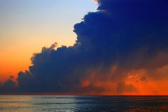 Clouds on sea sunset Royalty Free Stock Photography