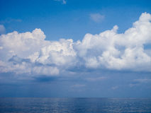 Clouds and sea Royalty Free Stock Photo