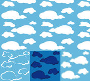Clouds. seamless background Royalty Free Stock Photo