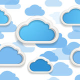 Clouds seamless background Stock Image