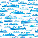 Clouds seamless pattern royalty free stock photos