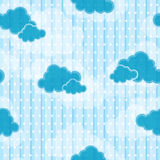 Clouds seamless pattern. Cute clouds and stars seamless pattern Stock Images