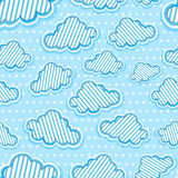 Clouds seamless pattern. Cute clouds and stars seamless pattern Royalty Free Stock Images