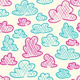 Clouds seamless pattern Stock Image