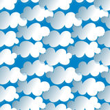 Clouds Seamless Pattern Stock Photo