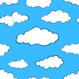 Clouds seamless pattern set stock illustration