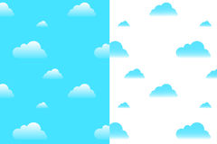 Clouds Seamless Pattern. Vector Royalty Free Stock Photography