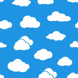 Clouds seamless pattern. Royalty Free Stock Photos