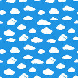 Clouds seamless pattern. Royalty Free Stock Photography