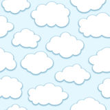 Clouds seamless pattern Royalty Free Stock Image