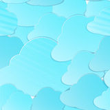 Clouds seamless vector Stock Photography