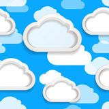 Clouds seamless vector background Stock Photography