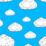 Clouds seamless wallpaper. Vector illustration Stock Images
