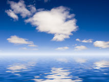 Clouds on the seawater. The clouds reflected in seawater Royalty Free Stock Photos