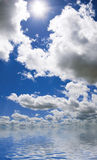 Clouds on the seawater. Reflecting the clouds in seawater Royalty Free Stock Photo