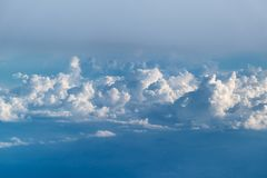 Clouds seen from above Stock Image