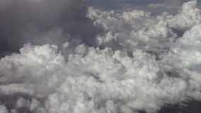 Clouds seen from above stock footage
