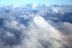 Clouds seen from an airplane Royalty Free Stock Images