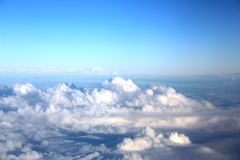 Clouds seen from an airplane Stock Photography