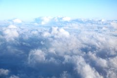 Clouds seen from an airplane Stock Photo