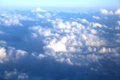 Clouds seen from an airplane Royalty Free Stock Photos