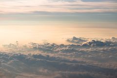 Clouds seen from the Top of Mt. Fuji in Japan stock image