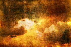 Clouds in sepia tones Royalty Free Stock Photo