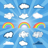 Clouds set Royalty Free Stock Photos