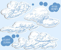Clouds set Royalty Free Stock Images