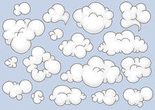 Clouds set Royalty Free Stock Image