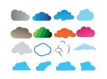 Clouds set design for logo illustration royalty free illustration