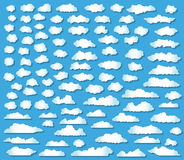 100 clouds set Stock Image