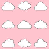 Clouds set, icons for cloud computing for app and web Stock Images