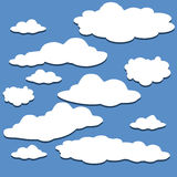 Clouds Set. Vector Background, Stock Image