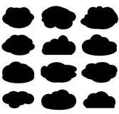 Clouds set vector illustration on white background Stock Images