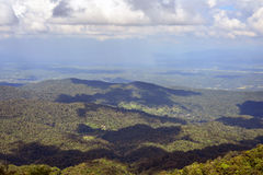 Clouds shadow. On mountain in Chiang mai, Thailand Stock Photos