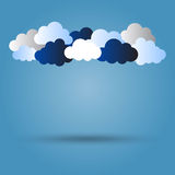 Clouds with shadow Stock Photography