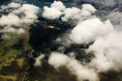 Clouds and shadows. From the sky Stock Photos
