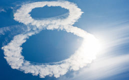 Clouds in shape of figure eight Stock Images