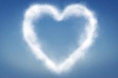 Clouds in shape of a heart Royalty Free Stock Image
