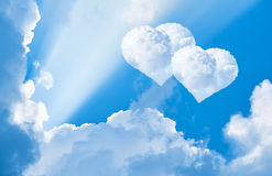 Clouds in the shape of heart in the sky Royalty Free Stock Photography